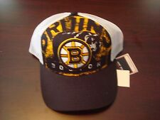 BOSTON BRUINS VINT DISTRESSED  RARE NEW  RETRO  SCRIPT  HAT CAP SNAPBACK