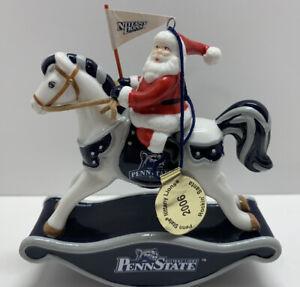 Danbury Mint 2006 Rockin' Santa Penn State Nittany Lions Rocking Horse Santa
