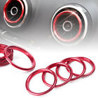 4x Interior Air Vent Outlet Ring Cover Trim For Audi A3 8v 12-19 Stainless Red