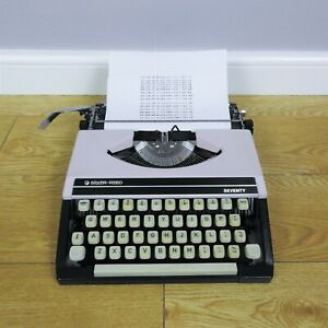 Silver Reed Seventy Vintage Mechanical Typewriter Tested & Working