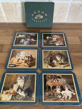 JASON 6 Cat Themed Nostalgic Cats Coasters In Box