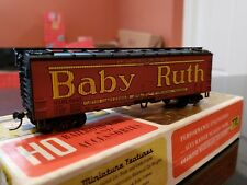 "HO SCALE TRAIN MINIATURES #8059 ""BABY RUTH"" CURTISS CANDY CO. WOOD SHEATHED."