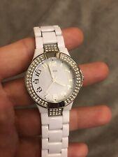 Guess Ladies White Watch Diamante