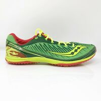 Saucony Mens Kilkenny XC 5 29005-1 Green Yellow Running Shoes Lace Up Size 12.5