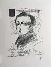 Horst Janssen, Georg Büchner, Lithografie, Offset, handsigniert