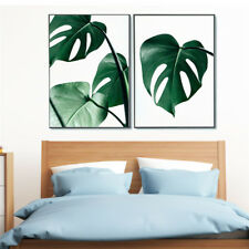 Nordic Green Plant Leaf Canvas Art Poster Print Wall Picture Home Decor no frame