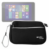 "Black 8"" Neoprene Carry Case for Dell Venue 8 Pro 5000 Series Windows 8.1 Tablet"