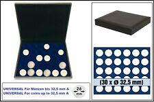 Safe 63320 nova de Luxe Tirelire Lefa Design Noir 30 cases Rond 32,5mm