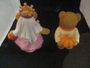 Cherished Teddies Halloween Pumpkin Surprise 4016858 Anna & Henry EUC