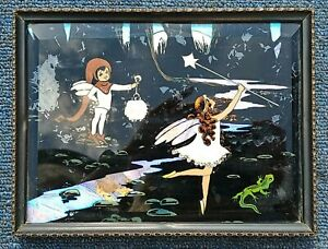 Art Deco Butterfly Wing Picture Fairy Fairies Forest