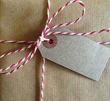 10m White RED christmas Butchers Twine Shabby Chic Parcel String BUY 2 GET1 FREE
