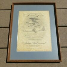 1950s Usaf Us Air Force Sac Strategic Air Command Certificate Document