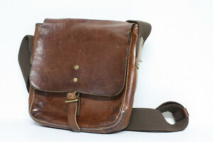 VTG Cole Haan Leather Mini Messenger Mail Courier Crossbody Bag Unisex Rugged
