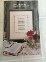 1991 The Sampler House Cross Stitch Leaflet  Very Victorian Shamrock Sampler