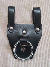 Heavy Duty BBI  Black Real Leather Steel Ring Hammer /  AxeHolder Hammer LOOP