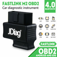 JDiag Faslink M2 Plus Bluetooth OBD2 Scanner OBDII Scan Tool for IOS / Android