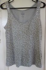 569fe115e94b4 Old Navy Beige Leopard Animal Print Sequin Shoulder Tank Top SMALL  Sleeveless