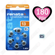 180 Pile Batterie protesi acustiche apparecchi acustici RENATA MARATONE ZA 13