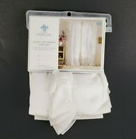 """Simply Shabby Chic White Ruffle 1 Curtain Panel 54"""" x 84"""" Light Filtering New"""