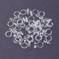 100PCS Plastic Clip-On Earring Blanks Stud Converter Non-Pierced Ears Cuff 10mm