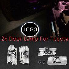 Láser 2x Led Puerta Toyota Corolla Camry Cortesía Sombra Luz Lámpara logotipo
