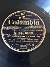 78 rpm - Josephine BAKER & Melodic Jazz - J'ai deux amours - COLUMBIA DF 229