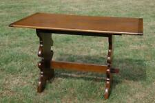 Vintage Oak Farmhouse Refectory Kitchen Dining Table Seats 4