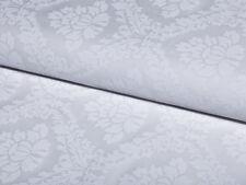 0,5 m Barock Muster edel leicht glänzend  Weiß auf Weiß Baumwolle Satin