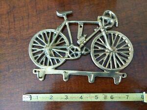 VTG 70s Shiny Brass Bicycle Key Holder Hanger 10-speed