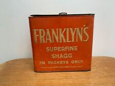 VINTAGE FRANKLYN'S FINE SHAGG TOBACCO ADVERTISING TIN