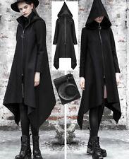 Manteau asymétrique gothique sorcière capuche lutin lune métal stylé PunkRave
