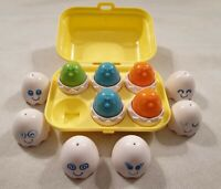 Vintage Tony Hide & Squeak Eggs Toy Eggs in Egg Box with Shapes 1993 1990s Toy