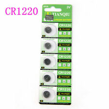Sturdy 5pc/set 3 Volt Cr1220 3v Coin Button Batteries Cell Battery for Watch Toy