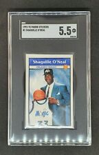 New listing Shaquille O'Neal 1992-93 Panini Sticker Rookie Card #1 SGC 5.5