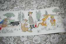 """Vintage CLASSIC WINNIE The POOH WALLPAPER 7"""" Border Roll~ 14 Yds Crafts, Decor"""