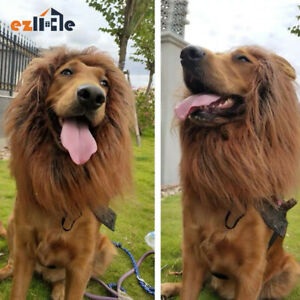 Lion Costume Mane Wig Large Dog Fancy Dress Up Party for Pet Halloween Clothes