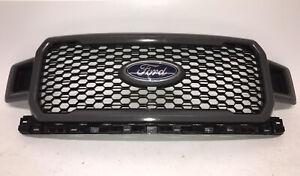 2018 2019 2020 Ford F-150 Front Radiator Metallic Grey Plastic OEM Grille X0025