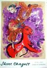 Marc Chagall Original Lithograph Poster Charlottenborg Exhibition Mourlot 1970