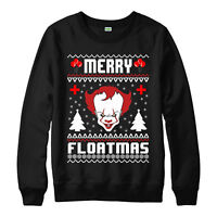 Pennywise Christmas Jumper, Merry Floatmas Festive Gift Xmas Jumper