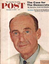 1956 Saturday Evening Post October 6 - Norman Rockwell; Ohio asylum; Kim Novak
