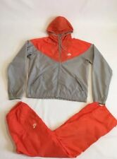 Vintage Nike Track Suit 80s 90s Orange Grey Large Grey Tag Jordan Track Running