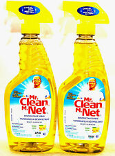 2 Mr Clean M.Net, Disinfectant Spray, Multi-Surface Cleaner, Lemon~22 fl oz
