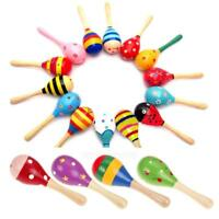 Baby Kids Toddler Rattle Sound Music Boy Girl Gift Musical Wooden Colorful Toys