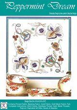 Peppermint Dream embroidery kit - Irene Junkuhn - Rajmahal art silk thread