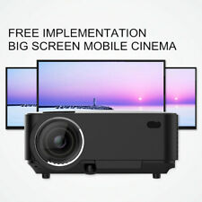 1000 Lumens LED Projector HD 1080P VGA HDMI TV Video Home Cinema Theater USB