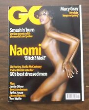 GQ UK MAGAZINE APRIL 2000 SUPERMODEL NAOMI CAMPBELL MACY GRAY NEW RARE