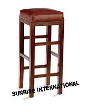 Artistic Wooden Bar Stool / Bar Chair with cushion !!