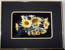Sunflowers, Double matted and framed, Size 11 x 14, Original photography, Giclee