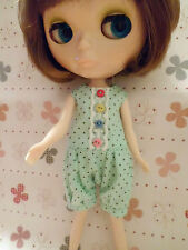 Blythe Doll Outfit Clothing Light Green Brown Dot Jumpsuit