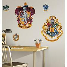 "HOGWARTS CRESTS MURAL wall stickers HARRY POTTER  22""x17"" decal party decoration"